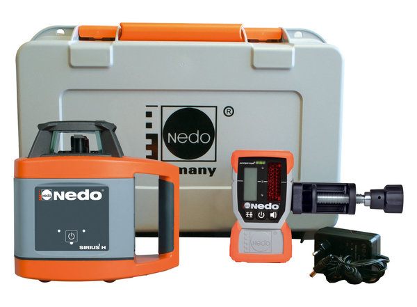 NEDO SIRIUS 1 H mit Acceptor 2 digital - Rotationslaser horizontal