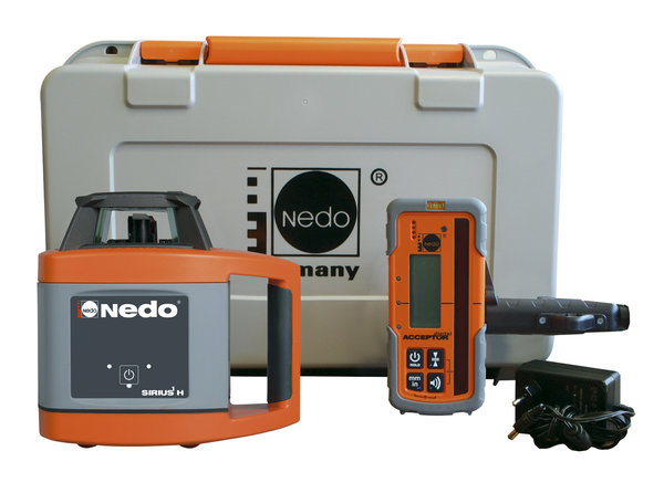 NEDO SIRIUS 1 H mit Acceptor Digital - Rotationslaser horizontal